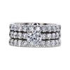 0.81 ct. Round Cut Bridal Set Ring, G, I1 #3