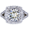 2.53 ct. Round Cut Halo Ring, L, VS1 #1