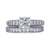 0.84 ct. Round Cut Bridal Set Ring, H, SI2 #3