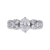 0.99 ct. Oval Cut 3 Stone Ring, E-F, I1 #2