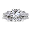1.04 ct. Round Cut Bridal Set Ring, E, SI1 #3