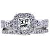 0.87 ct. Cushion Modified Cut Bridal Set Ring, I-J, SI1-SI2 #2
