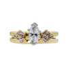 1.03 ct. Marquise Cut Bridal Set Ring, H, SI2 #3