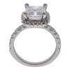 2.21 ct. Princess Cut Halo Ring, H, VS2 #4