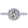 1.20 ct. Round Cut Halo Ring, I, SI2 #3