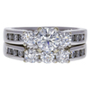 0.55 ct. Round Cut Bridal Set Ring, H, SI1 #3
