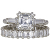 2.01 ct. Asscher Cut Bridal Set Ring, H, VS1 #3