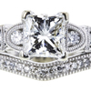 1.01 ct. Princess Cut Bridal Set Ring, H, VS1 #4
