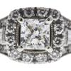 0.7 ct. Princess Cut Halo Ring, F, SI2 #1