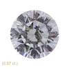 1.0 ct. Round Cut Stud Earrings, J, SI2 #2
