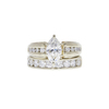 1.02 ct. Marquise Cut Bridal Set Ring, H, VS1 #3