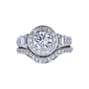 1.02 ct. Round Cut Bridal Set Ring, H, VS1 #3