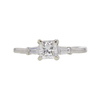 0.82 ct. Princess Cut 3 Stone Ring, F-G, VS2-SI1 #2