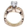0.91 ct. Cushion Cut Bridal Set Ring, F, VS2 #4