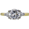 1.37 ct. Round Cut 3 Stone Ring, F, SI2 #2