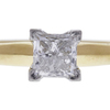 0.9 ct. Princess Cut Solitaire Ring, G, I1 #4