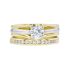 0.73 ct. Round Cut Bridal Set Ring, E, SI2 #4