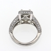 1 ct. Princess Cut Halo Ring #2