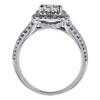 1.01 ct. Round Cut Halo Ring, I, VS2 #3