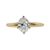 0.96 ct. Oval Cut Solitaire Ring, J, VS2 #3