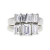 0.72 ct. Emerald Cut Bridal Set Ring, E, SI1 #3