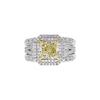 3.12 ct. Radiant Cut Bridal Set Ring, M-Z, SI1 #3