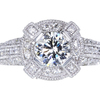 1.15 ct. Round Cut Halo Ring, H, I1 #1
