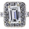 1.00 ct. Emerald Cut Halo Ring, G, SI2 #4