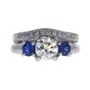 1.0 ct. Round Cut Bridal Set Ring, I, SI1 #3