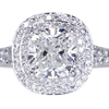 2.01 ct. Cushion Cut Halo Ring #3