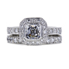 0.78 ct. Asscher Cut Bridal Set Ring, D-E, VS2 #2