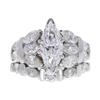 1.53 ct. Marquise Cut Bridal Set Ring, D, SI1 #3