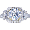 2.33 ct. Round Cut Halo Ring, H, VS2 #3