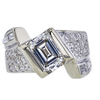 1.33 ct. Emerald Cut Solitaire Ring, G-H, VS2-SI1 #2