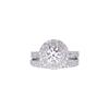 1.02 ct. Round Cut Bridal Set Ring, F, SI1 #3