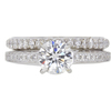 0.83 ct. Round Cut Bridal Set Ring, H, VS1 #3