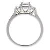 1.01 ct. Emerald Cut 3 Stone Ring, G, VS2 #4