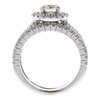 0.7 ct. Round Cut Halo Ring, I, SI2 #4