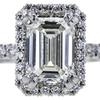 2.01 ct. Emerald Cut Halo Ring, H, VS1 #4