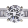 1.43 ct. Round Cut Bridal Set Ring, H, SI1 #4