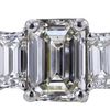 1.84 ct. Emerald Cut 3 Stone Ring #2