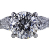1.68 ct. Round Cut 3 Stone Ring, I, I1 #4