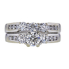 0.50 ct. Round Cut Bridal Set Ring, H, SI1 #3