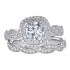 0.9 ct. Round Cut Bridal Set Ring, G, SI1 #3