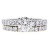 0.95 ct. Round Cut Bridal Set Ring, I, SI1 #1