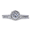 0.72 ct. Round Cut Bridal Set Ring, F, VVS2 #3