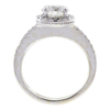 1.24 ct. Round Cut Halo Ring, H, I1 #4