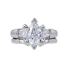 1.00 ct. Marquise Cut Bridal Set Ring, E, SI2 #4