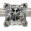 1.14 ct. Princess Cut Solitaire Ring #4