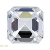 1.51 ct. Asscher Cut 3 Stone Ring, G, VS1 #4